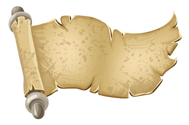 Königliches altes pergamentpapier für nachricht