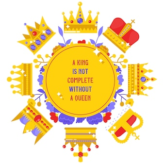 Königliches schmuckbanner, plakatvektorillustration.