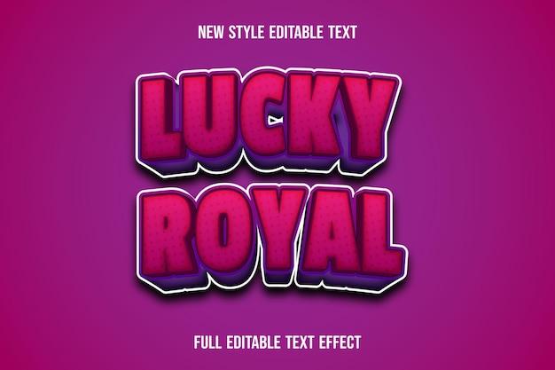 Königliches texteffektglück auf rosa und lila farbverlauf