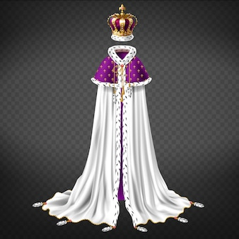 Königliches zeremonialgewand