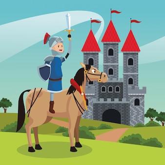 Königreich mittelalterliche krieger