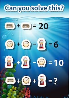 Können sie dieses mathematische problem lösen?