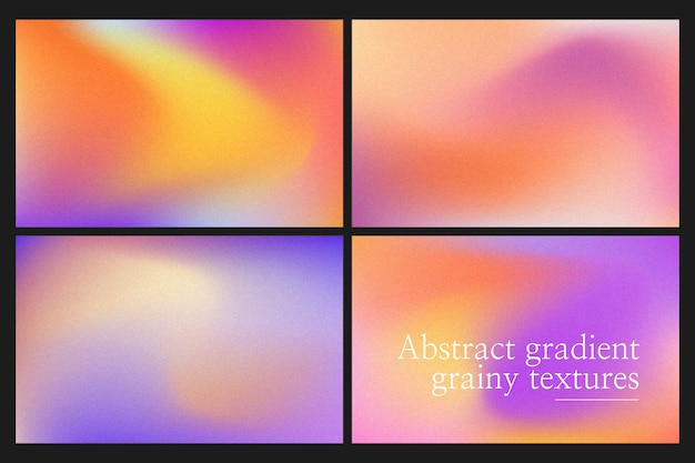 Körnige farbverlauf-textur-sammlung