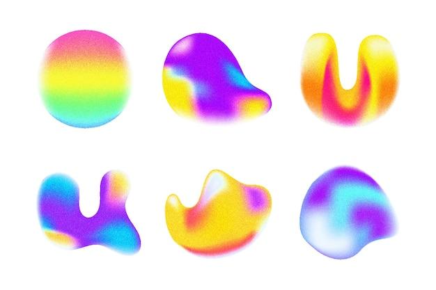 Körnige formkollektion mit farbverlauf