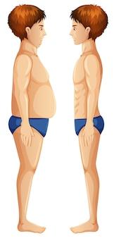 Körperfett und schlank