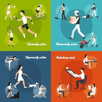 Körperliche aktivität eingestellt