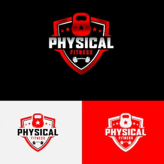 Körperliche fitness-logo