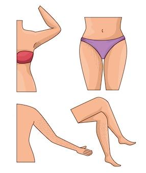 Körperteile mit haaren