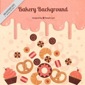 Köstliche bäckerei hintergrund