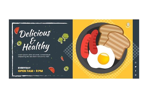 Köstliche brunch-banner-vorlage