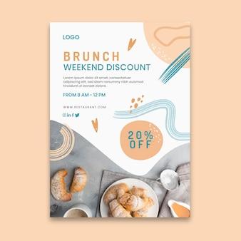 Köstliche brunch-flyer-vorlage