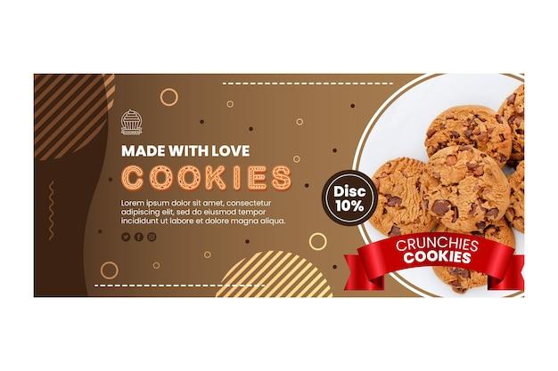 Köstliche cookies-banner-vorlage