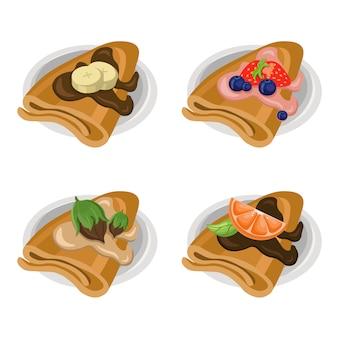 Köstliche crepes-kollektion