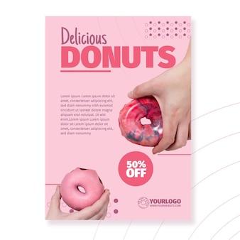 Köstliche donuts flyer vorlage