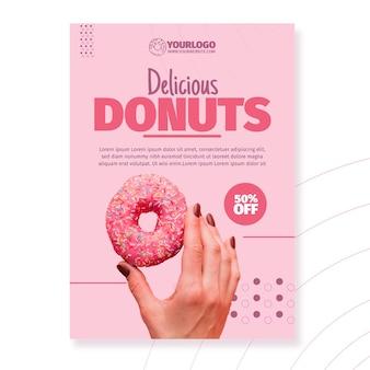 Köstliche donuts-plakatschablone