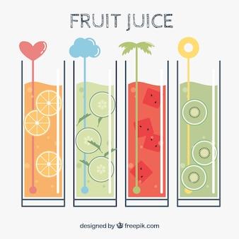 Köstliche erfrischende fruchtsäfte