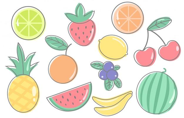 Köstliche früchte vektor