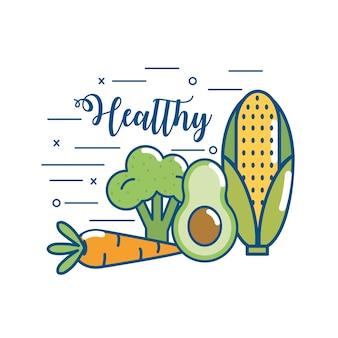 Köstliche gesunde bio-food-ernährung