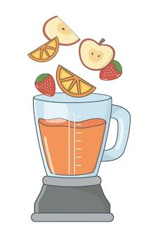 Köstliche gesunde smoothiekarikatur