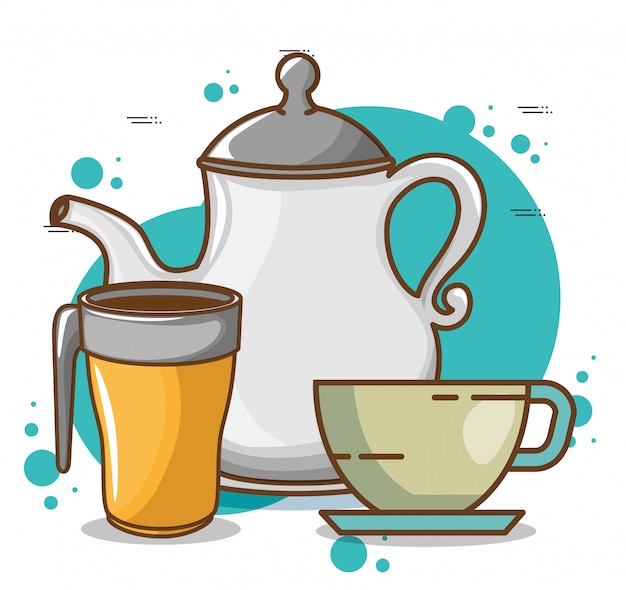 Köstliche kaffeezeitelemente