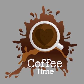 Köstliche kaffeezeitschale