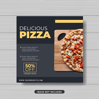 Köstliche pizza lebensmittelverkauf promotion social media post vorlage banner