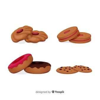 Köstliche snack-sammlung mit realistischem design