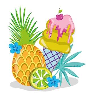 Köstliche sommer eiscreme cartoons