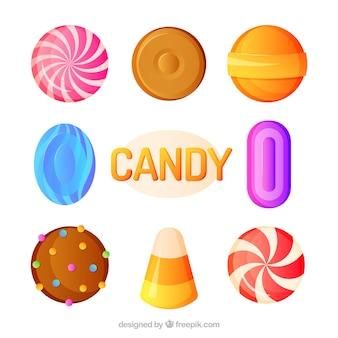 Köstliche süßigkeiten sammlung im 2d stil