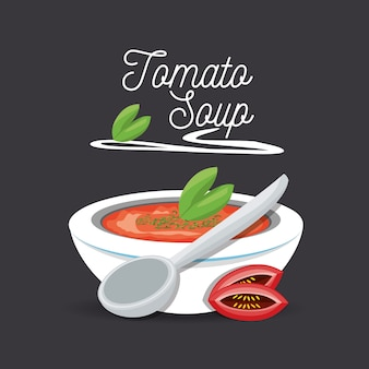 Köstliche tomatensuppe menü restaurant