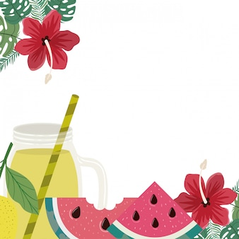 Köstliche tropische früchte