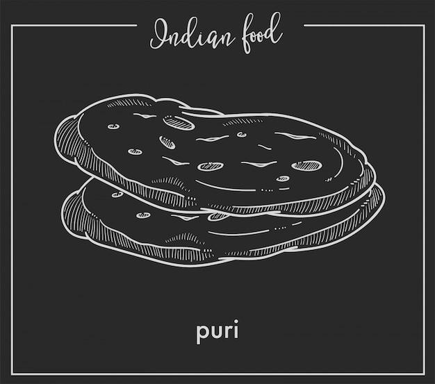 Köstliche weiche heiße puri-brote