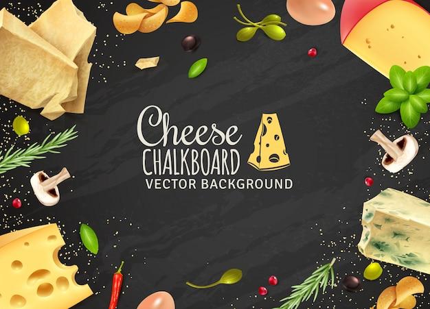 Köstlicher käse-hintergrund