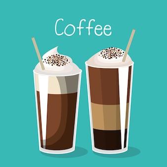 Köstlicher kaffee gefrorenes getränk