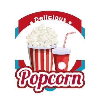 Köstlicher popcorn mit soda fast food