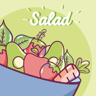 Köstlicher und gesunder salat