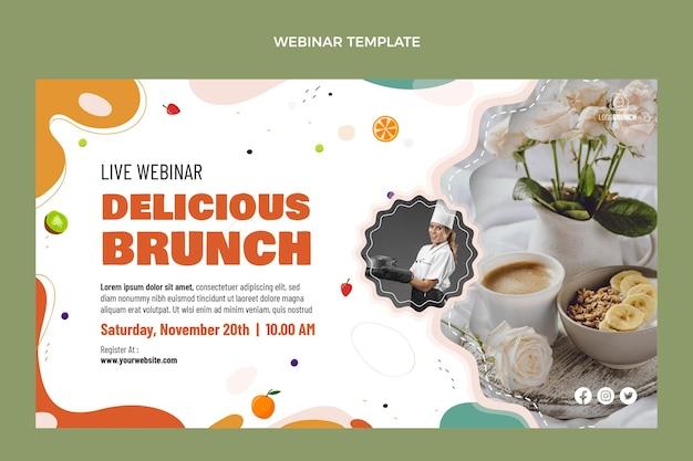 Köstliches brunch-webinar im flachen design