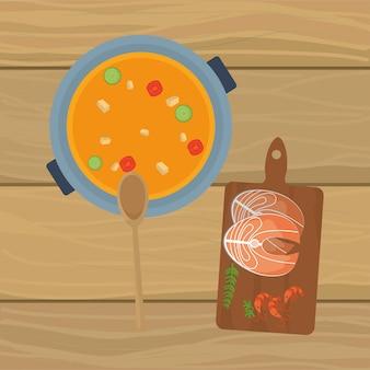 Köstliches essen cartoon