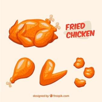 Köstliches gebratenes hühnchen-pack