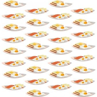 Köstliches geschmackvolles amerikanisches frühstücksmuster