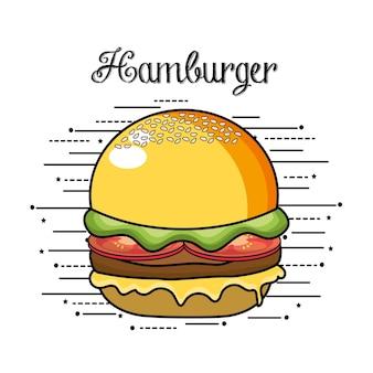 Köstliches hamburger fastfood-essen