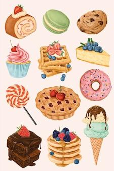 Köstliches handbemaltes dessertset