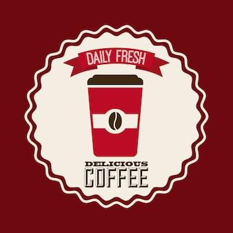 Köstliches kaffeedesign, grafik der vektorillustration eps10