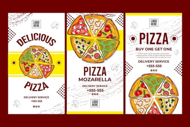 Köstliches pizza-konzept