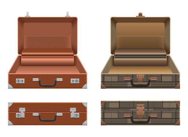 Koffer-set-design-illustration isoliert auf weißem hintergrund