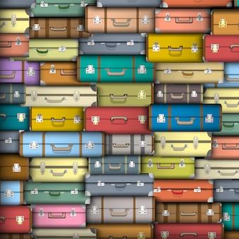 Koffer, vektor hintergrund