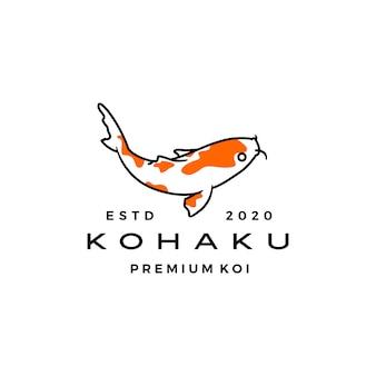 Kohaku koi fisch logo