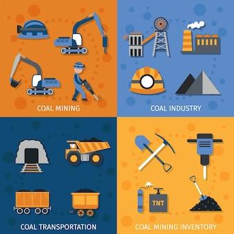 Kohle-Industrie-Set