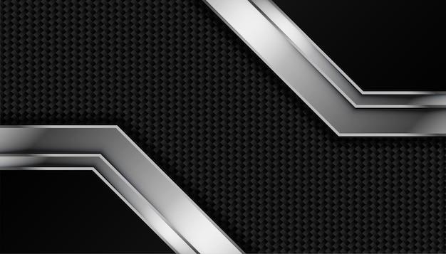 Kohlefasertextur mit metallischen linien