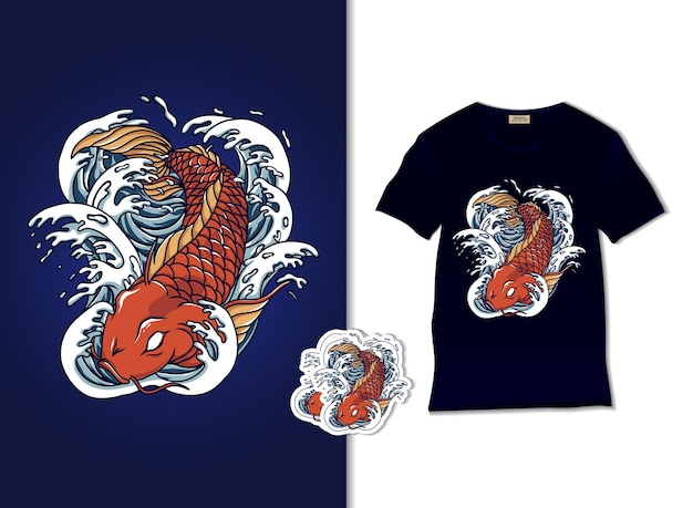 Koi fisch illustration